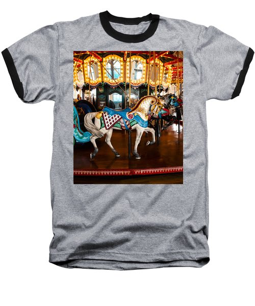 Baseball T-Shirt featuring the photograph Colorful Carousel Horse by Jerry Cowart