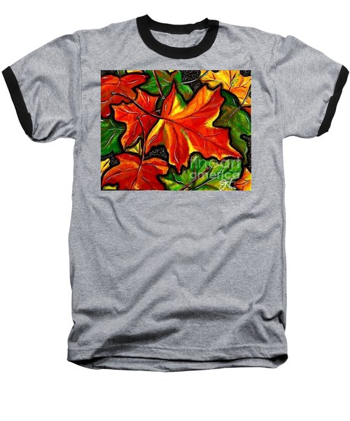 Baseball T-Shirt featuring the painting Colorful Carpet by Jackie Carpenter