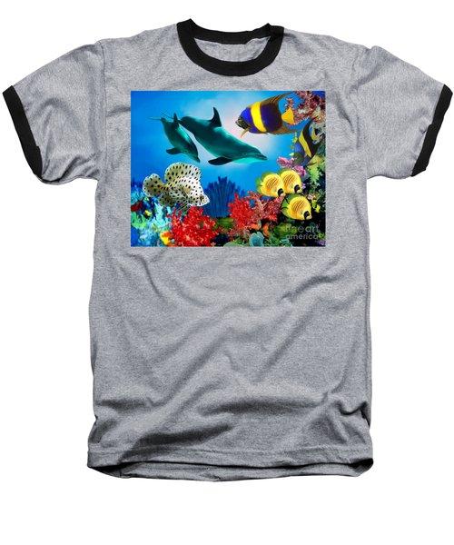 Colorful Fish Baseball T-Shirt