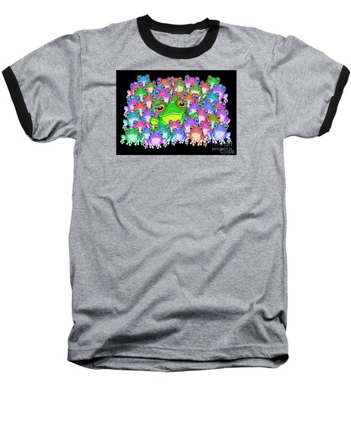 Colorful Froggy Family Baseball T-Shirt