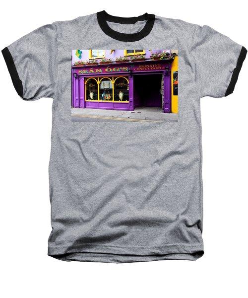 Colorful Irish Pub Baseball T-Shirt by Aidan Moran