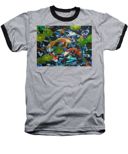 Colorful Koi Baseball T-Shirt