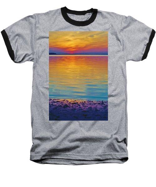 Colorful Lowtide Sunset Baseball T-Shirt
