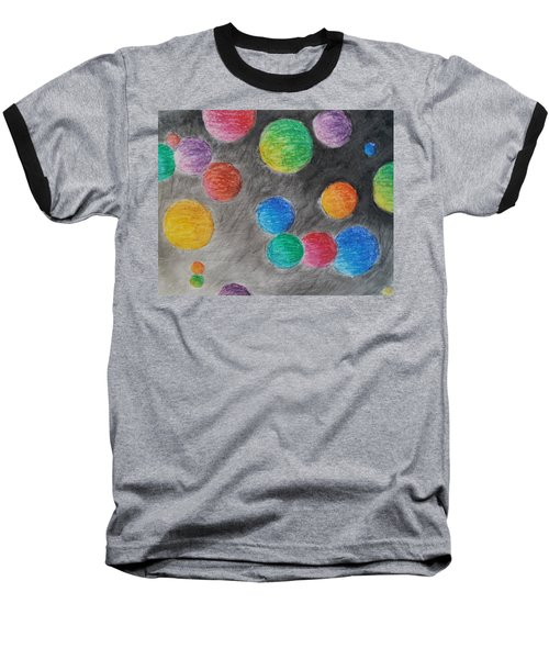 Colorful Orbs Baseball T-Shirt by Thomasina Durkay