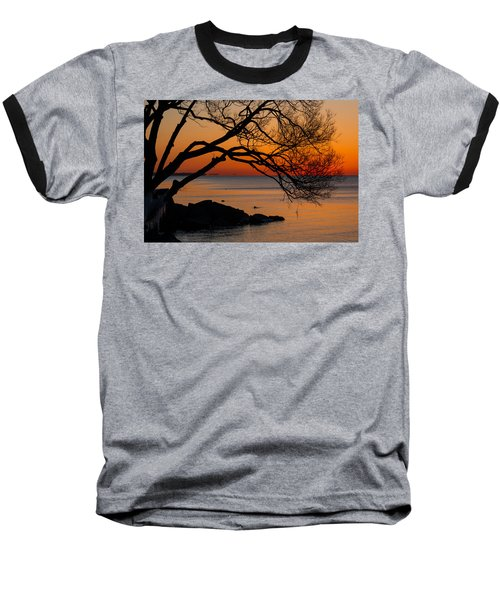 Colorful Quiet Sunrise On Lake Ontario In Toronto Baseball T-Shirt