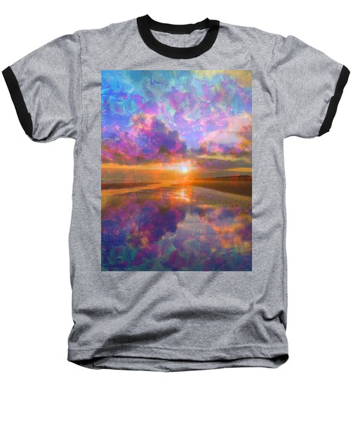 Colorful Sunset By Jan Marvin Baseball T-Shirt
