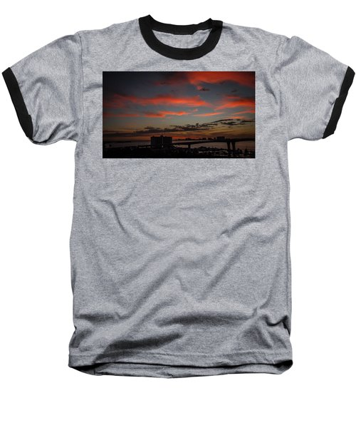 Baseball T-Shirt featuring the photograph Colorful Sunset by Jane Luxton