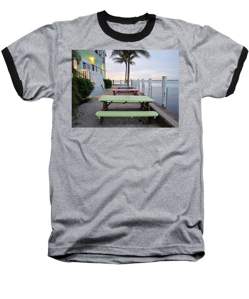 Baseball T-Shirt featuring the photograph Colorful Tables by Cynthia Guinn