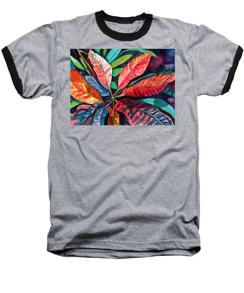 Colorful Tropical Leaves 2 Baseball T-Shirt