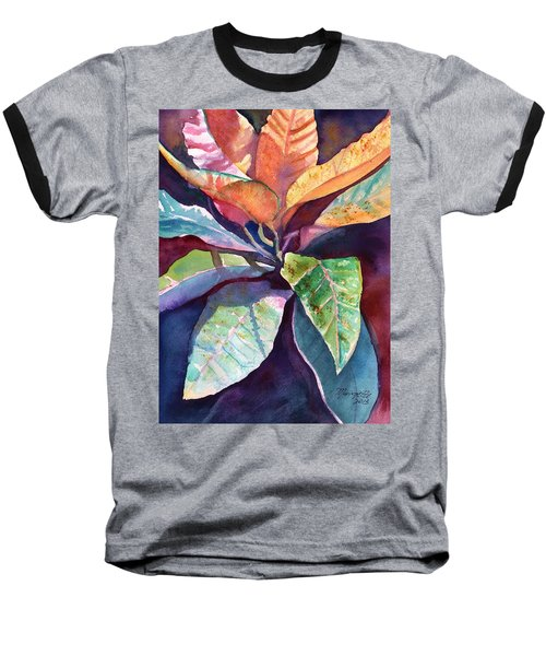 Colorful Tropical Leaves 3 Baseball T-Shirt
