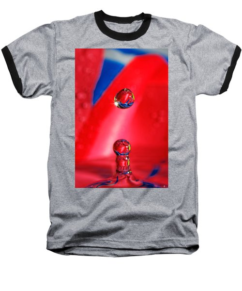 Baseball T-Shirt featuring the photograph Colorful Water Drop by Peter Lakomy