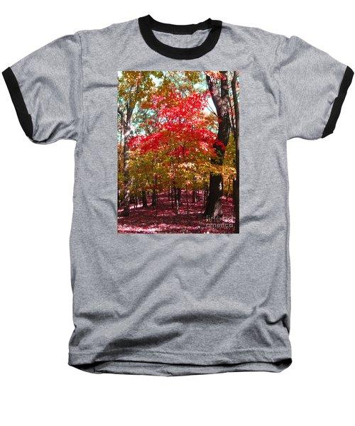 Colorful Woodland Baseball T-Shirt