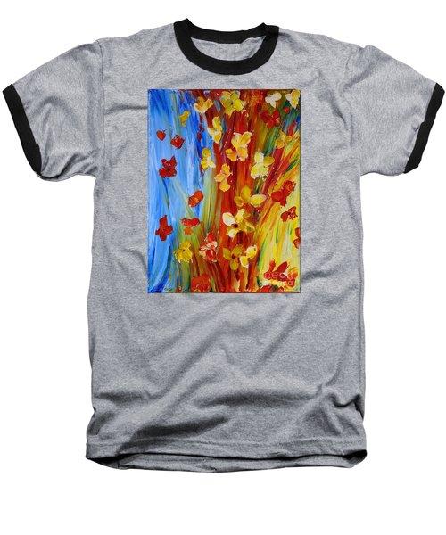 Colorful World Baseball T-Shirt by Teresa Wegrzyn