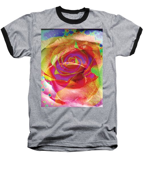 Colorfull Rose Baseball T-Shirt