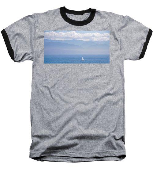 Colors Of Alaska - Sailboat And Blue Baseball T-Shirt