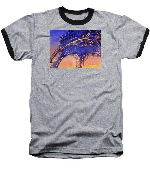 Colors Of Paris- Eiffel Tower Baseball T-Shirt