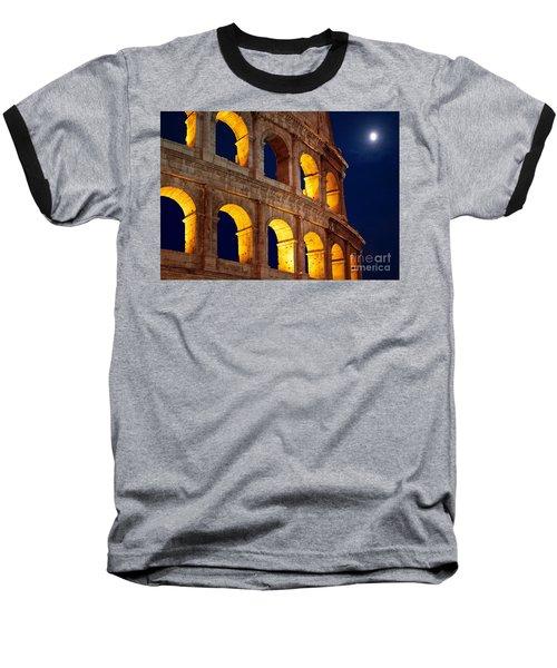 Colosseum And Moon Baseball T-Shirt