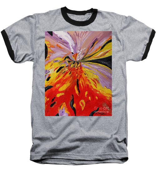 Colourburst Baseball T-Shirt by Loredana Messina