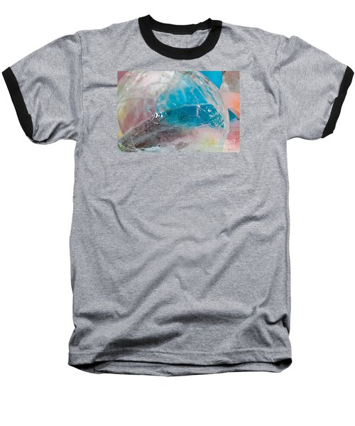 Coloured Ice Creation Print #4 Baseball T-Shirt by Nina Silver