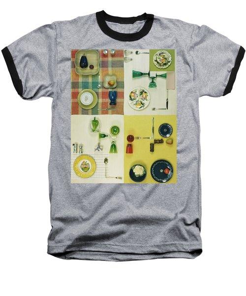 Colourful Table Settings Baseball T-Shirt