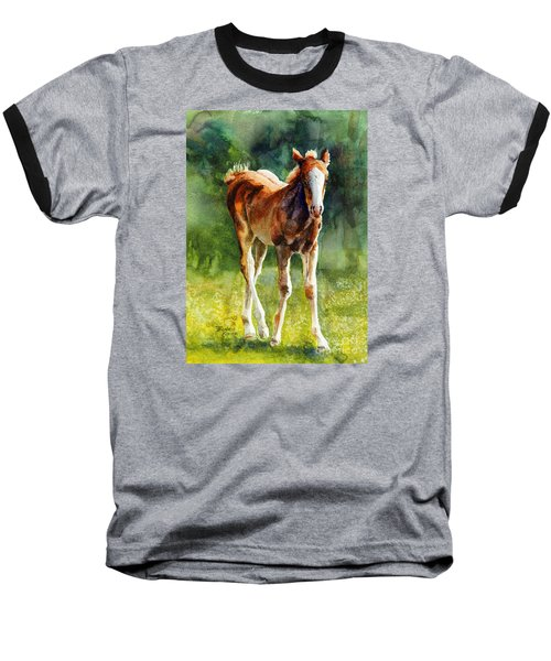 Colt In Green Pastures Baseball T-Shirt
