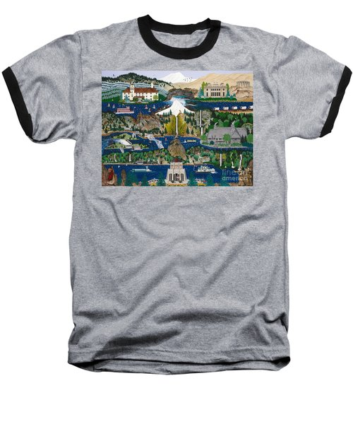 Baseball T-Shirt featuring the painting Columbia River Gorge by Jennifer Lake