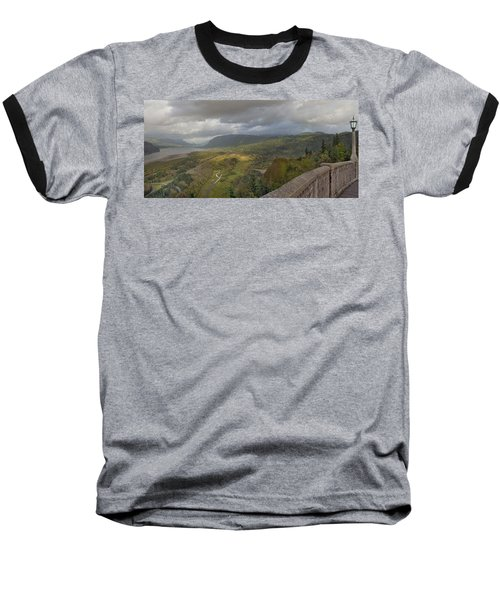 Baseball T-Shirt featuring the photograph Columbia River Gorge View From Crown Point by JPLDesigns