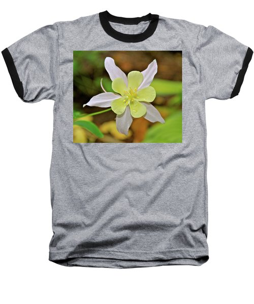 Columbine Charlie's Garden Baseball T-Shirt by Ed  Riche
