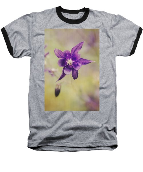 Columbine Flower Baseball T-Shirt