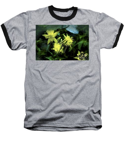 Columbines Painterly Baseball T-Shirt