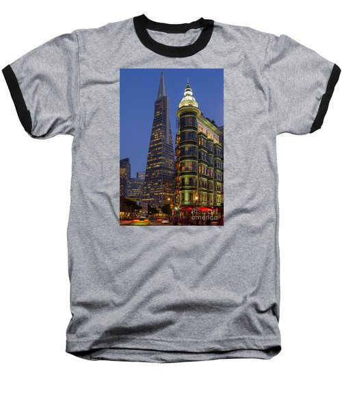 Columbus And Transamerica Buildings Baseball T-Shirt
