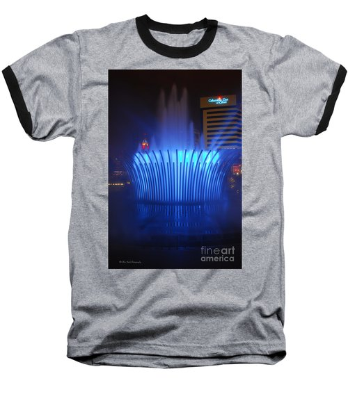 D101l-122 Scioto Mile Fountain Photo Baseball T-Shirt