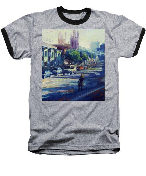 Columbus Street Baseball T-Shirt by Rick Nederlof