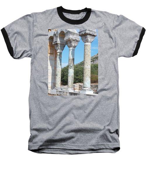 Columns Baseball T-Shirt by Marilyn Zalatan