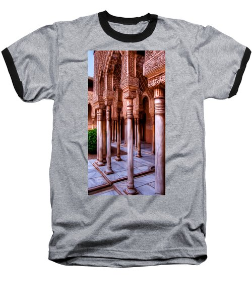 Columns Of The Court Of The Lions - Painting Baseball T-Shirt