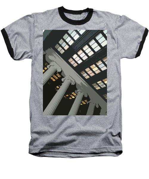 Columns Baseball T-Shirt by Julio Lopez