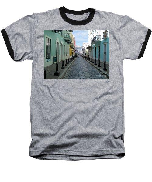 Baseball T-Shirt featuring the photograph San Juan Puerto Rico by Roberta Byram