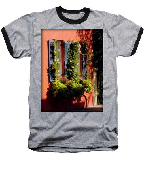 Come To My Window Baseball T-Shirt by Karen Wiles