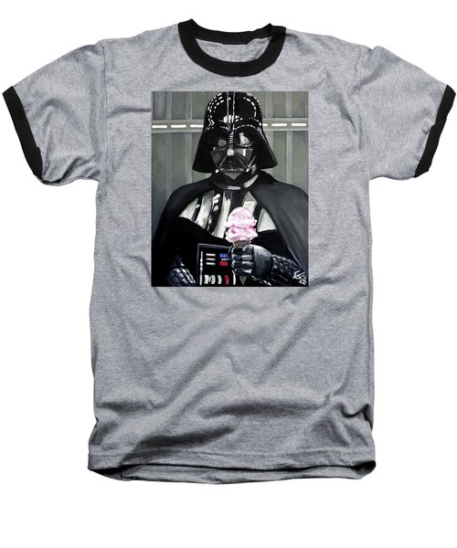 Come To The Dark Side... We Have Ice Cream. Baseball T-Shirt by Tom Carlton