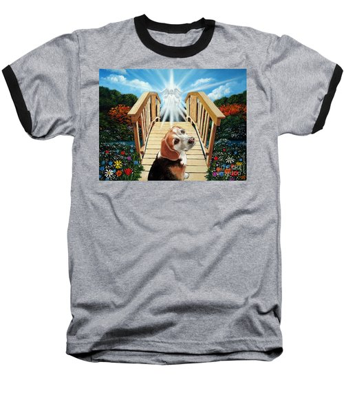 Come Walk With Me Over The Rainbow Bridge Baseball T-Shirt