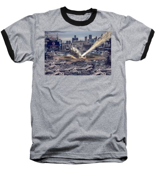 Baseball T-Shirt featuring the photograph Comerica Park Asteroid by Nicholas  Grunas
