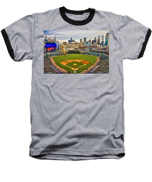 Baseball T-Shirt featuring the photograph Comerica Park Detroit Mi With The Tigers by Nicholas  Grunas