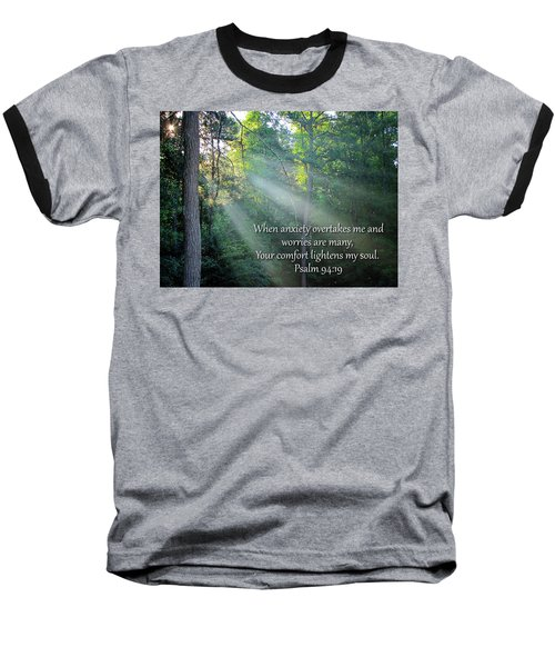 Baseball T-Shirt featuring the photograph Comfort by Greg Simmons