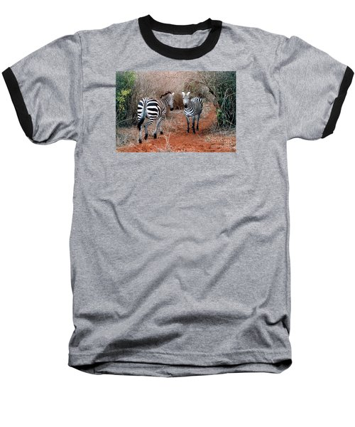 Baseball T-Shirt featuring the photograph Coming And Going by Phyllis Kaltenbach