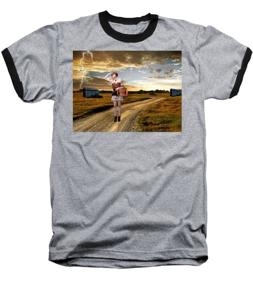 Baseball T-Shirt featuring the photograph Coming Home by Ester  Rogers
