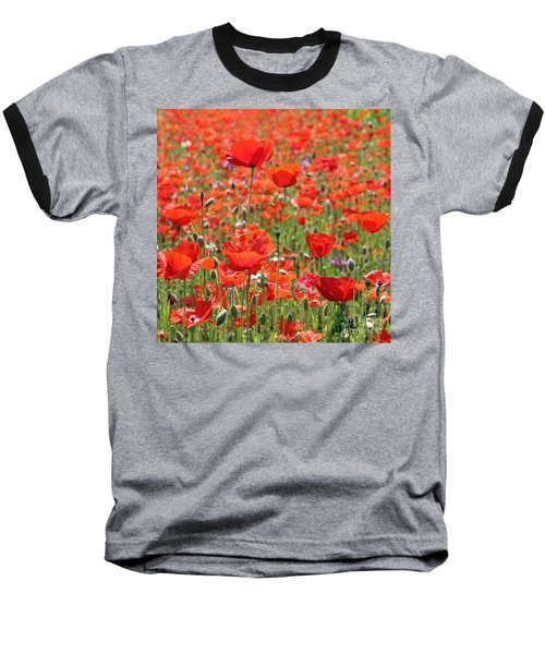Commemorative Poppies Baseball T-Shirt