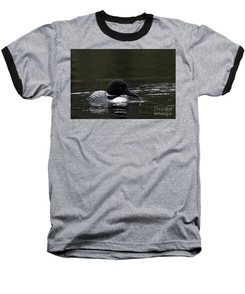 Common Loon 1 Baseball T-Shirt