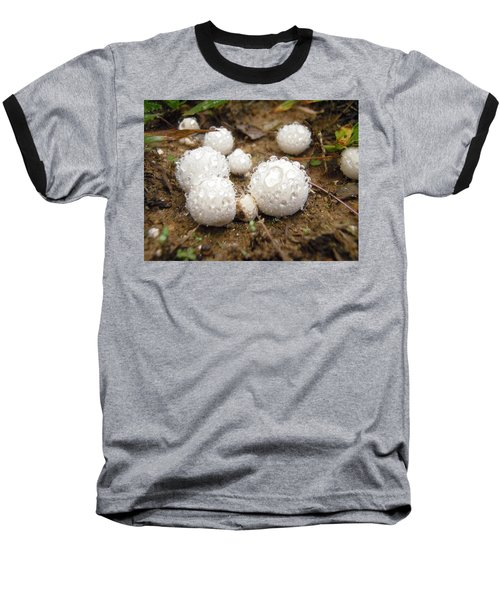 Common Puffball Dewdrop Harvest Baseball T-Shirt