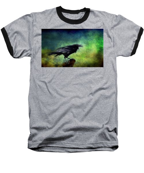 Common Raven Baseball T-Shirt