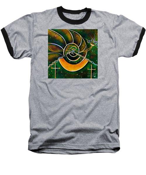 Baseball T-Shirt featuring the painting Communicator Spirit Eye by Deborha Kerr